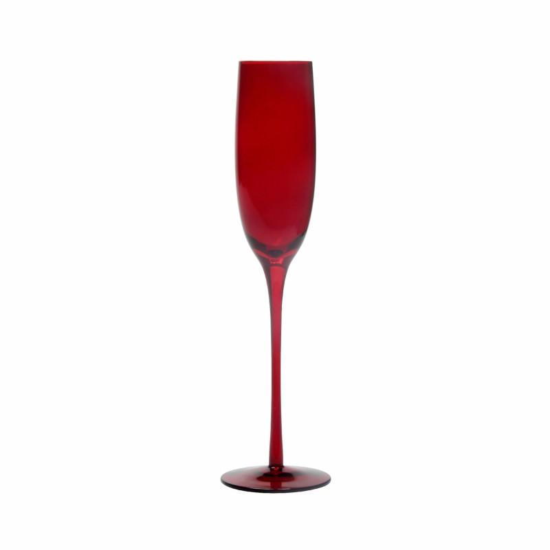 Бокал для шампанского красный Cor Mulder