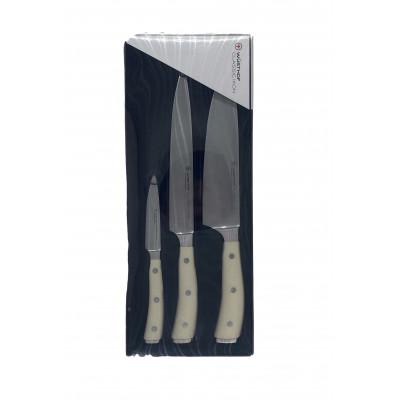 Набор ножей 3 пр. слоновая кость Wuesthof 1120460301