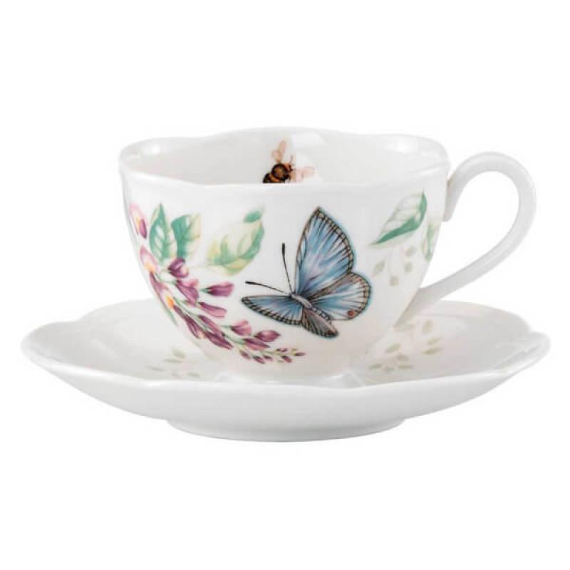 Чашка с блюдцем Butterfly Meadow от Lenox