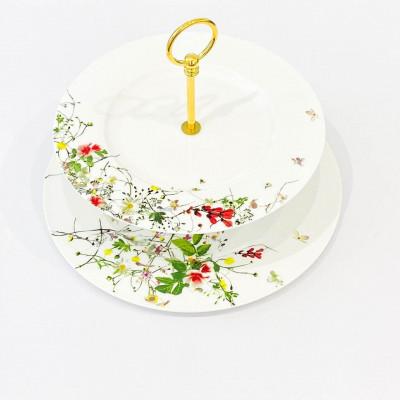 Этажерка двухъярусная 28-33см Brillance Fleurs Sauvages от Rosenthal 10530-405101-25322