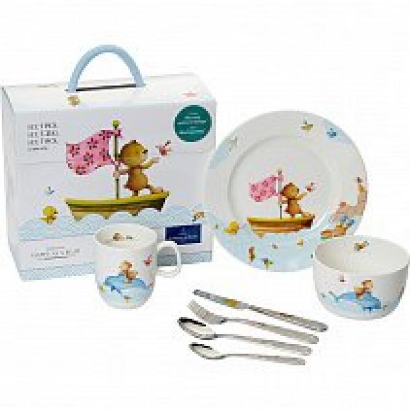 Детский набор столовой посуды 7 пр. Happy Bears от Villeroy & Boch