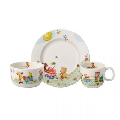 Детский набор столовой посуды 3 пр. Hungry Bears от Villeroy & Boch