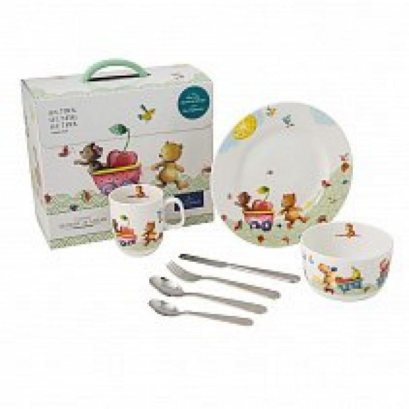 Детский набор столовой посуды 7 пр. Hungry Bears от Villeroy & Boch