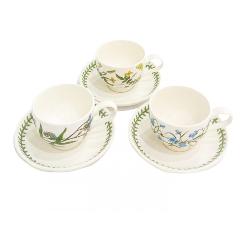Чашка с блюдцем для завтрака 0.25 л Botanic Garden от Portmeirion