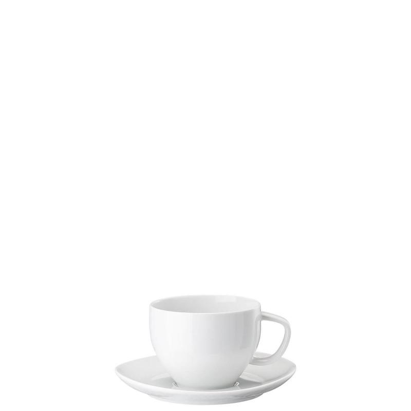 Чашка с блюдцем для чая JUNTO WHITE