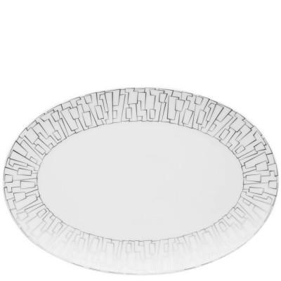Блюдо овальное 34 см TAC 02 Skin Platinum