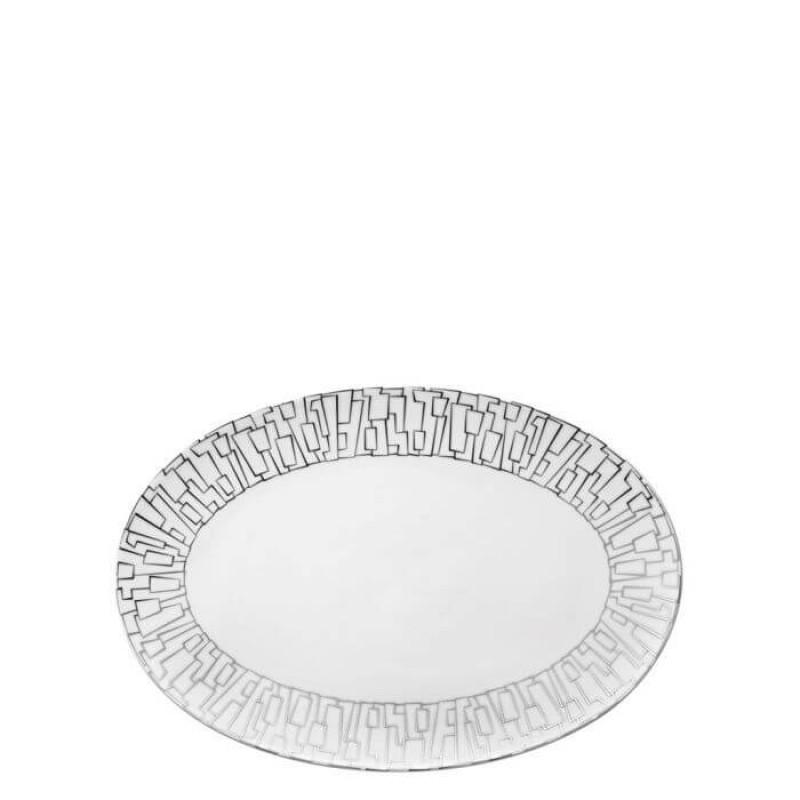 Блюдо овальное 25 см Tac Gropius Skin Platin от Rosenthal 11280-403239-12725