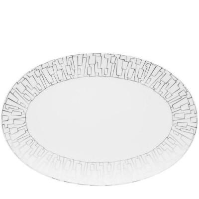 Блюдо овальное 38 см TAC 02 Skin Platinum