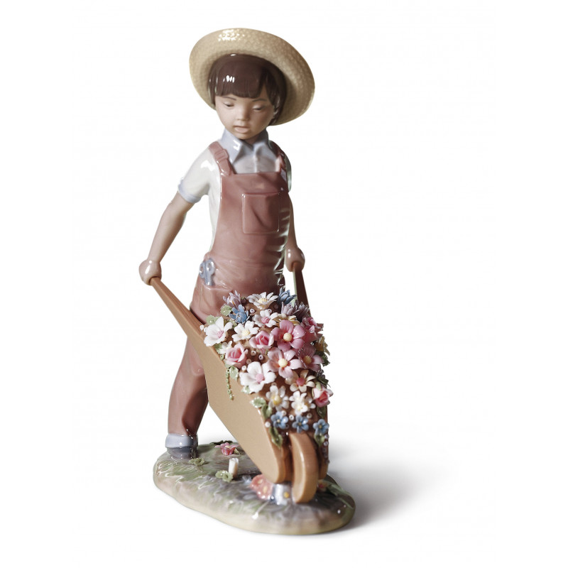 Статуэтка Тачка с цветами Lladro 01001283