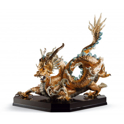 Большой золотой дракон LLADRO