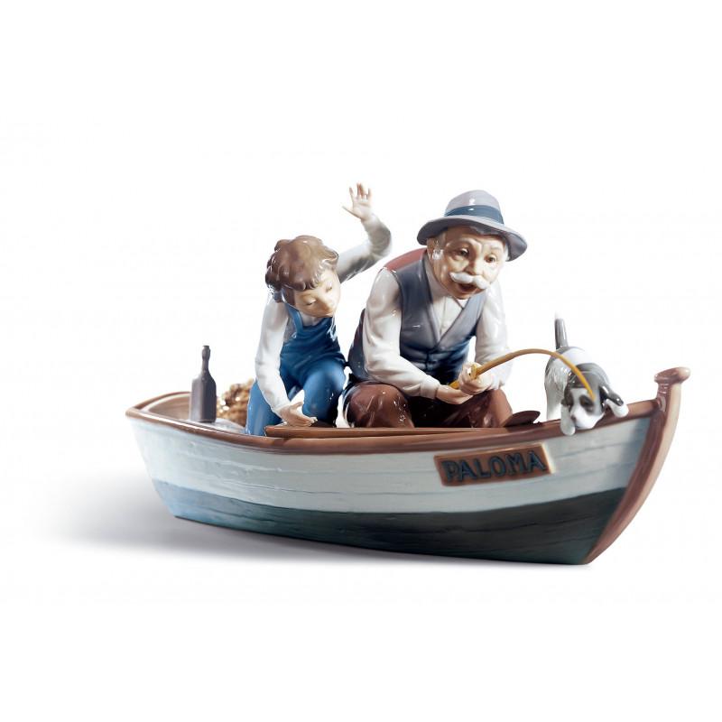 Рыбалка с дедулей  LLADRO