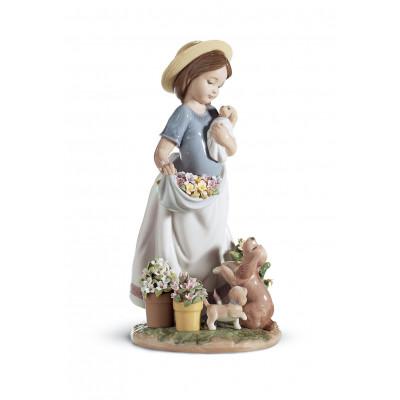 Статуэтка Возня в саду Lladro 01006907