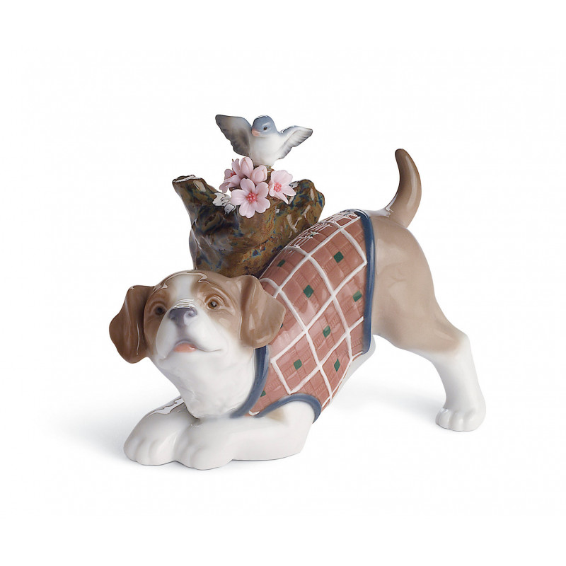 Статуэтка Цветы для щенка Lladro 01008381