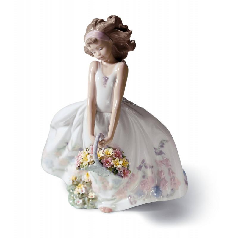 Статутетка Полевые цветы Lladro 01006647