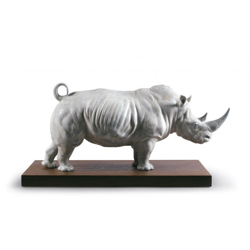 01009285 Белый носорог LLADRO