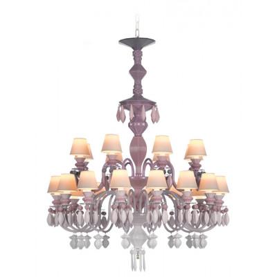 Люстра 24 лампы Lladro 01023274 Розовая