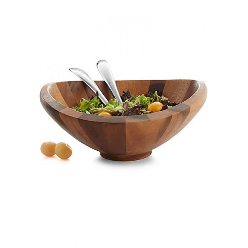 Емкость для салата + 2 ложки 41*41 см NAMBE 5005