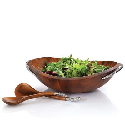 Блюдо деревянное+ложки NAMBE