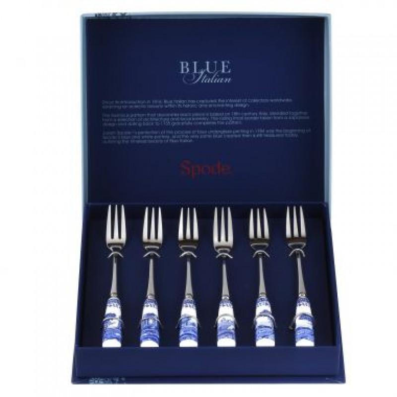 Набор десертных вилок 6 предметов Blue Italian от Portmeirion