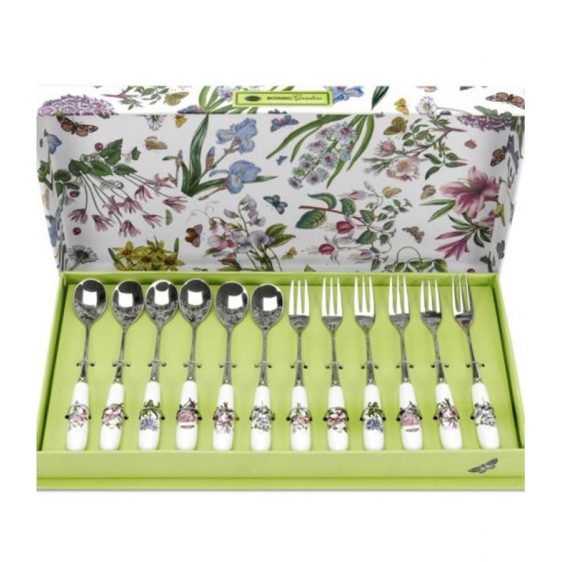 Набор столовых приборов для десерта 12 предметов Botanic Garden от Portmeirion