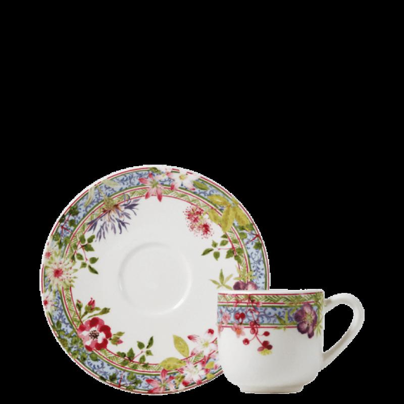 Чашка с блюдцем ( 2 персоны ) эспрессо Millefleurs от Gien